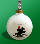 White Glass Sleepy Hollow Ornament