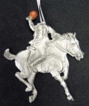 Pewter Headless Horseman Ornament