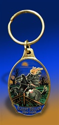 Oval Color Metal Sleepy Hollow Key Chain