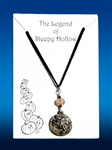 Sleepy Hollow Necklace - Clear Glass Pumpkin Bead